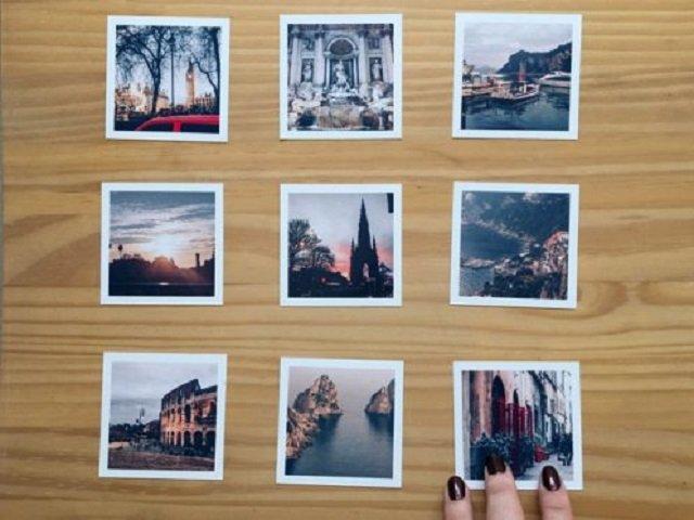 como fazer um mural de fotos