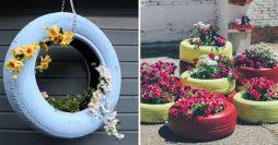 13 Ideias de Jardim com Pneus Para Você Copiar