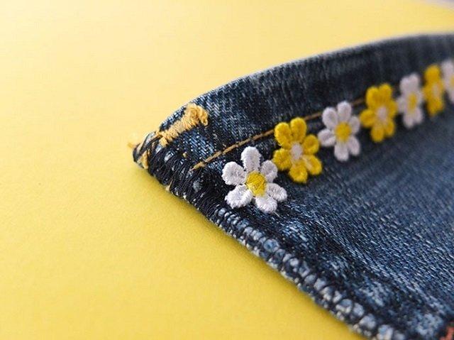porta-moedas em tecido jeans