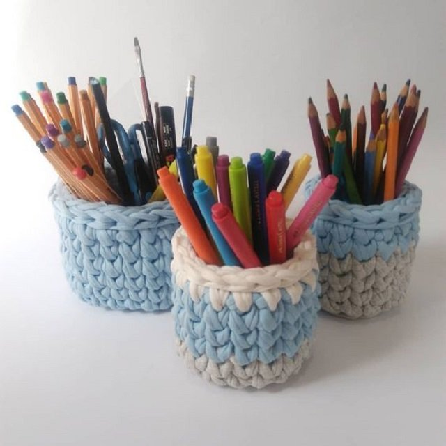 como fazer porta lápis