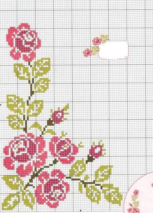 55 Graficos De Flores Em Ponto Cruz Gratis Para Baixar Revista