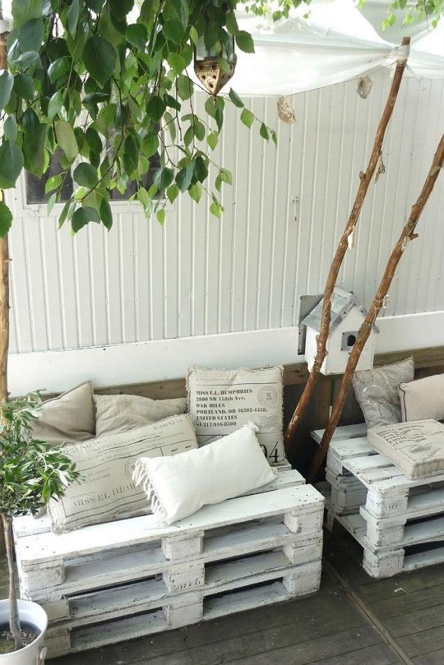 sofá de palete para varanda