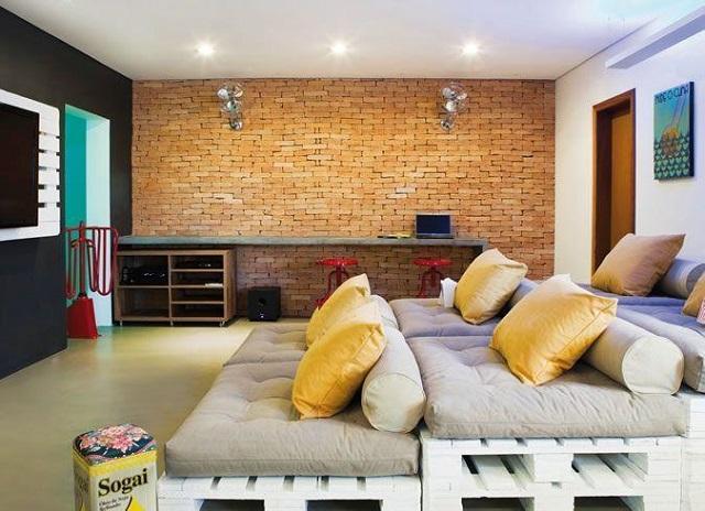 sofá de palete para sala