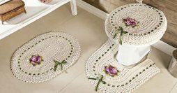 Tapete de Crochê para Banheiro: 64 Fotos + Passo a Passo Fácil