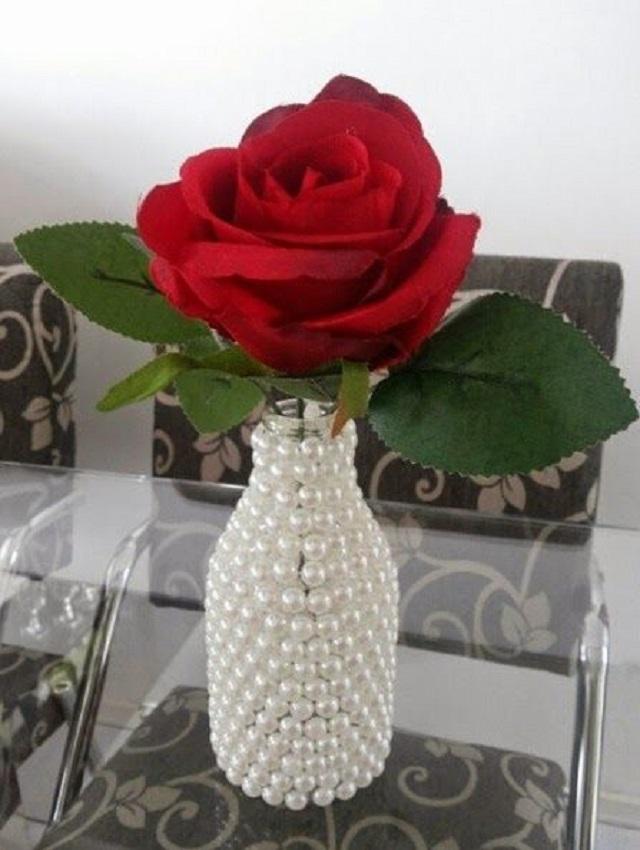 garrafas de vidros decorados