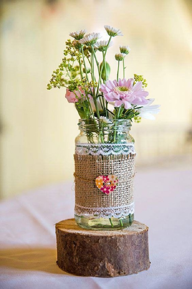 potes de vidros decorados