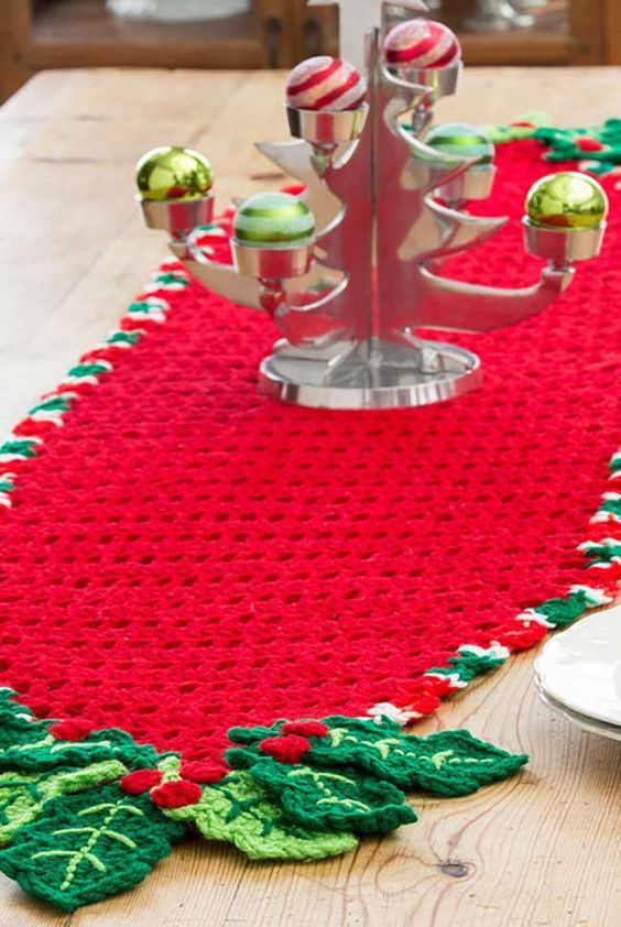 caminho de mesa em crochê passo a passo