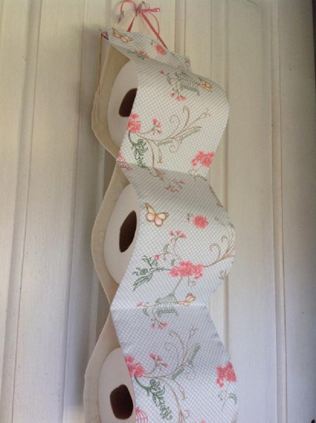 como fazer porta papel higiênico de tecido