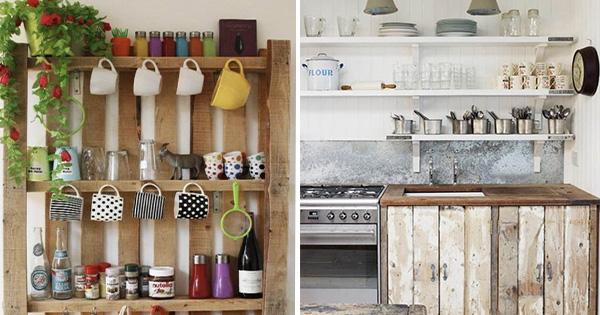 Móveis de Paletes para Cozinha