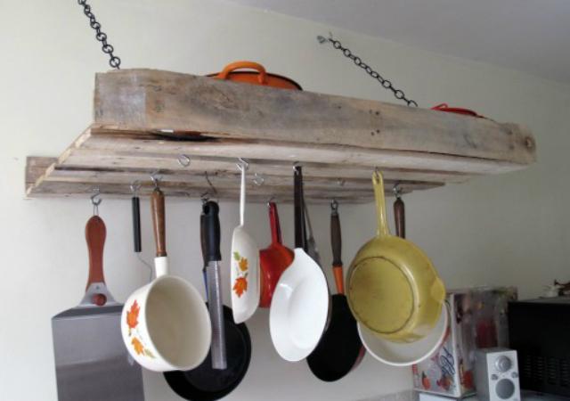 móveis de paletes para a cozinha