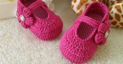 Sapatinho de Bebê de Crochê: Passo a Passos em Vídeo + 47 Fotos