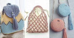 como fazer bolsa de crochê