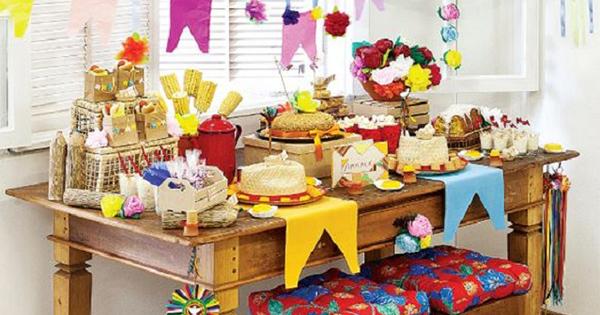 decoração de festa junina simples