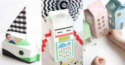 Brinquedos de Caixa de Leite: 32 Ideias Com Passo a Passos