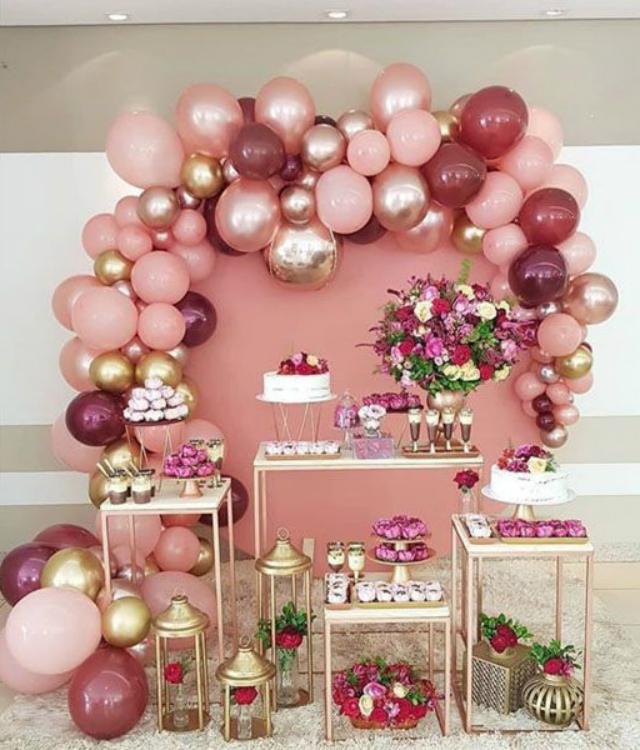 decoração de festa simples
