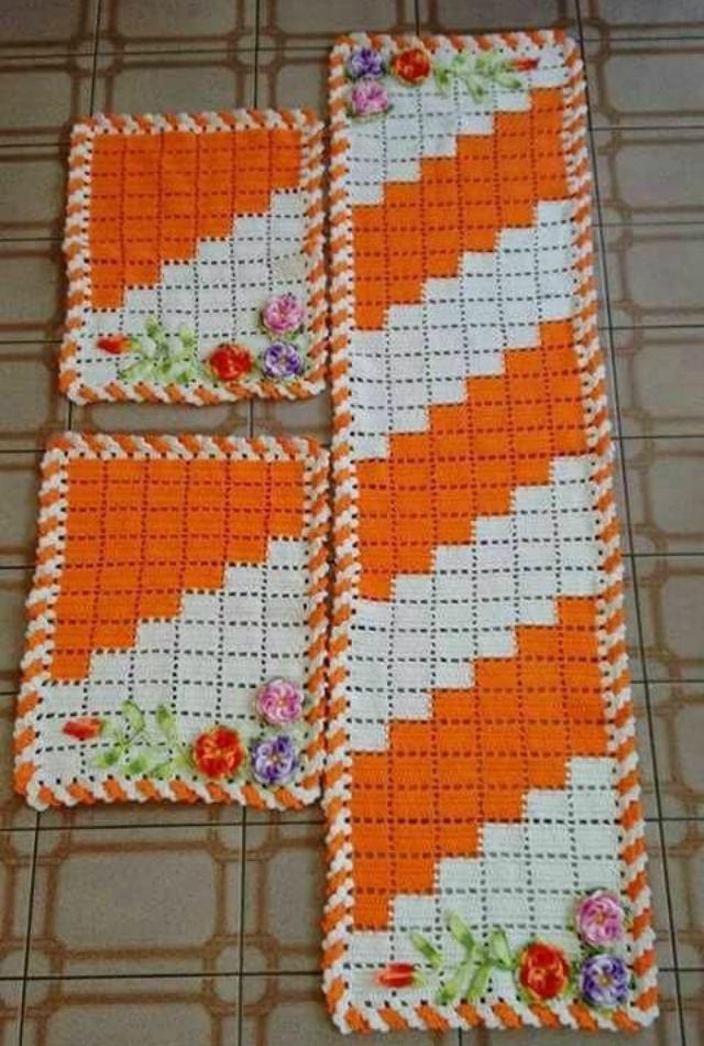 Como Fazer Jogo De Cozinha De Crochê 25 Modelos Lindos