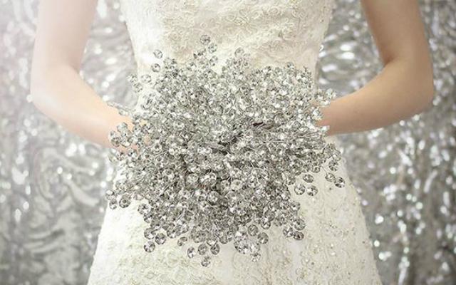 buquê de bodas de cristal