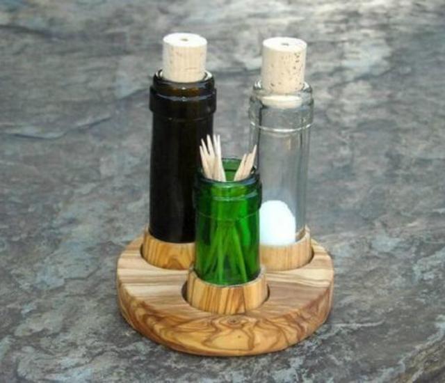 objetos feitos com material reciclado
