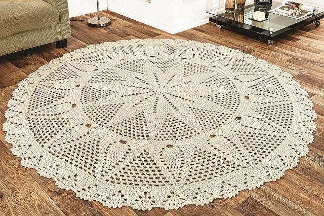 gráficos de tapete de crochê