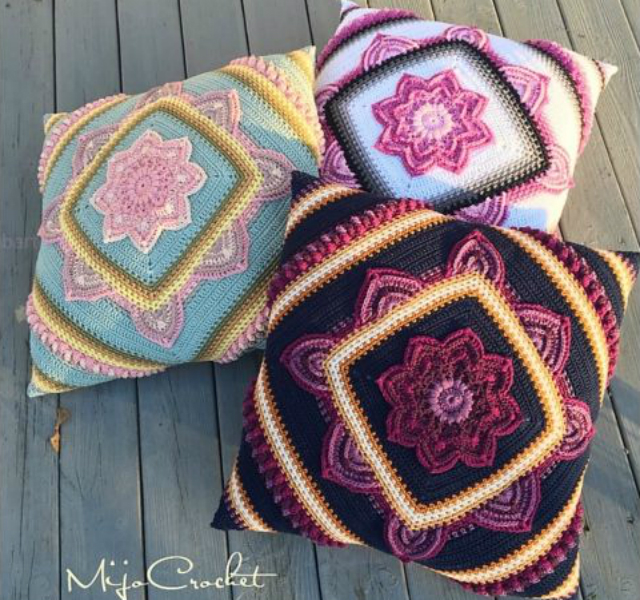 flores de crochê com gráfico