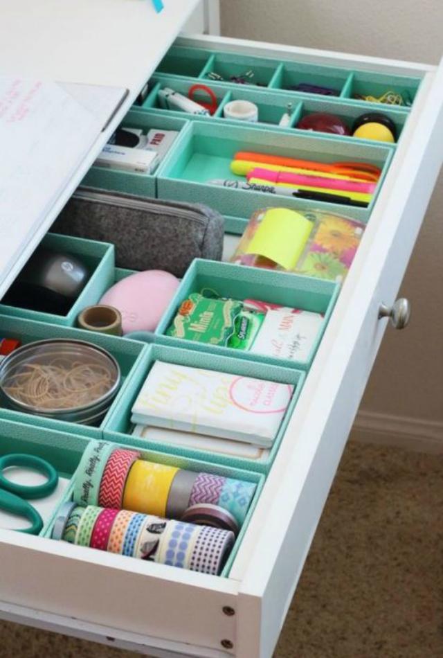como fazer um organizador de gavetas