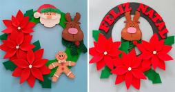 Guirlanda de Natal em EVA: Aprenda Como Fazer Modelos Simples e Lindos