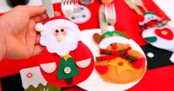 Decoração de Mesa de Natal: 28 Modelos de Porta Talheres para sua Ceia