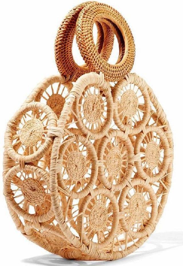 Bolsa de palha artesanal