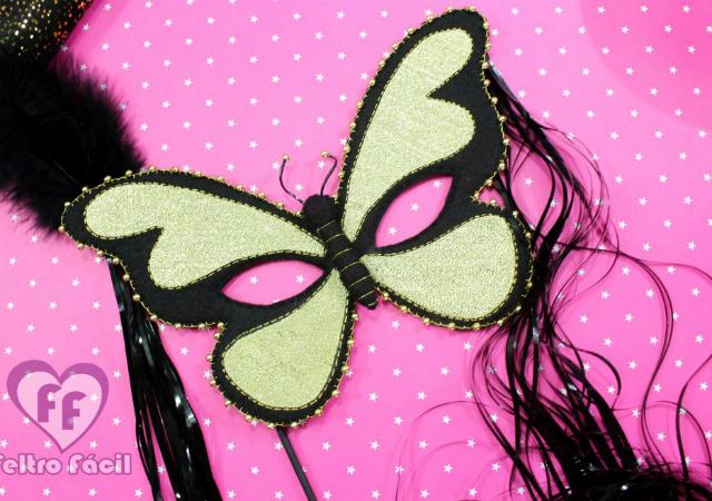 Máscara de carnaval de borboleta