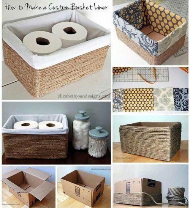 Caixas de corda de sisal