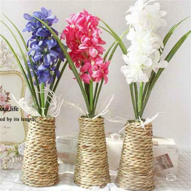 Vaso de plantas de corda de sisal