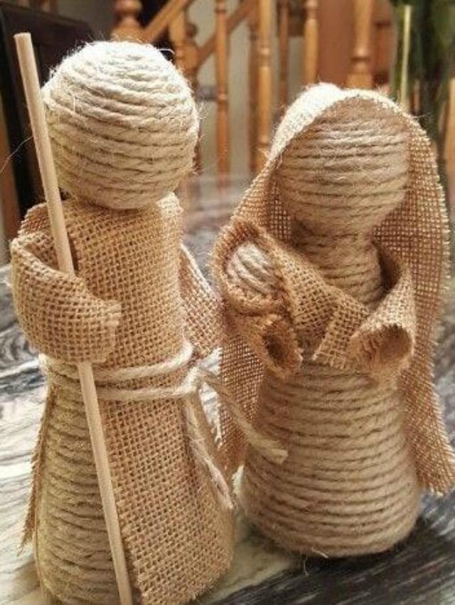 Bonequinhos de corda de sisal