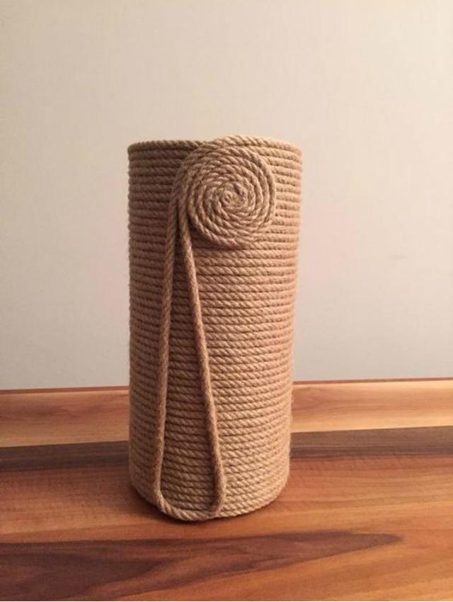 Vaso de corda de sisal