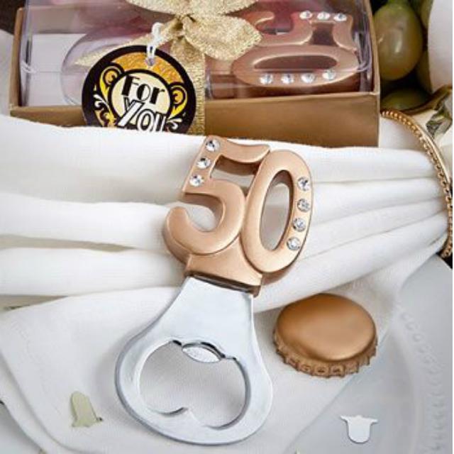 Abridor de garrafa bodas de ouro