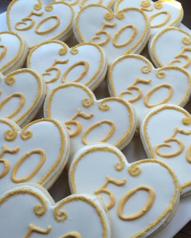 Cookies bodas de ouro