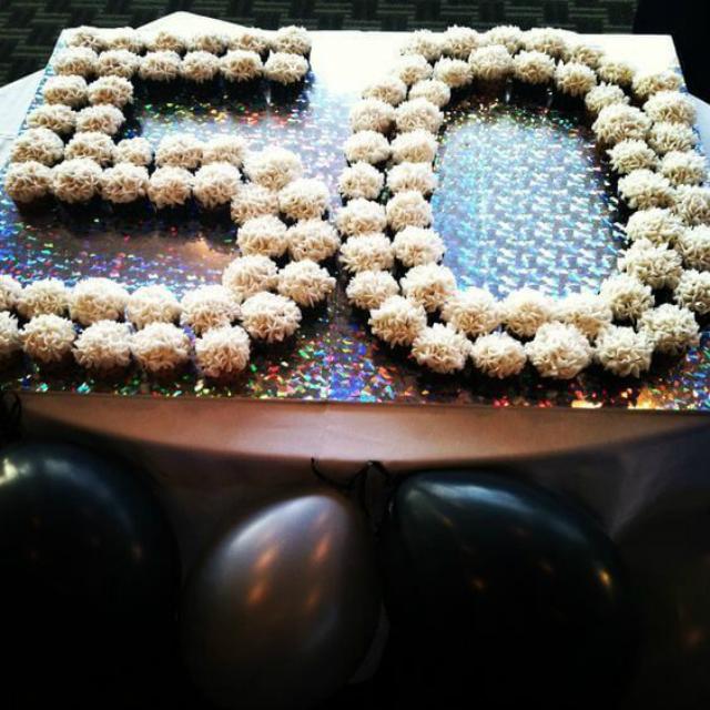 Cupcake bodas de ouro