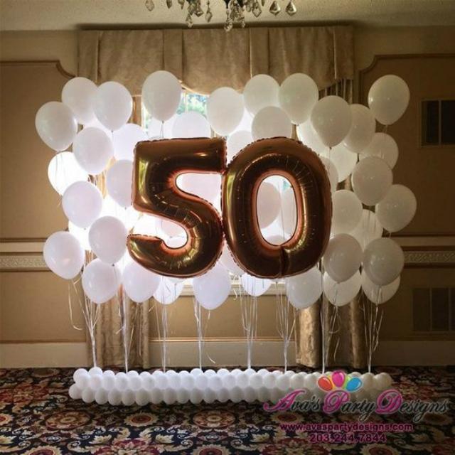 Balões bodas de ouro
