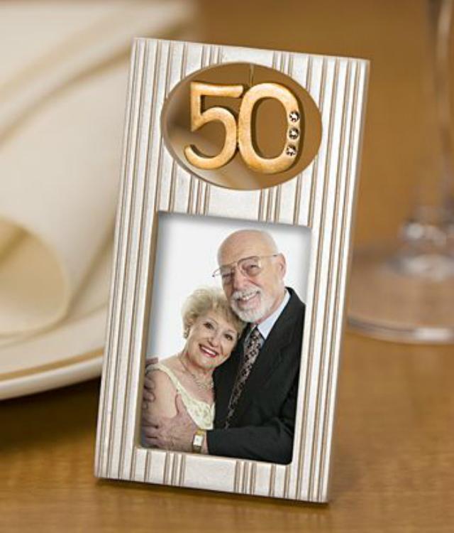 Porta retrato bodas de ouro