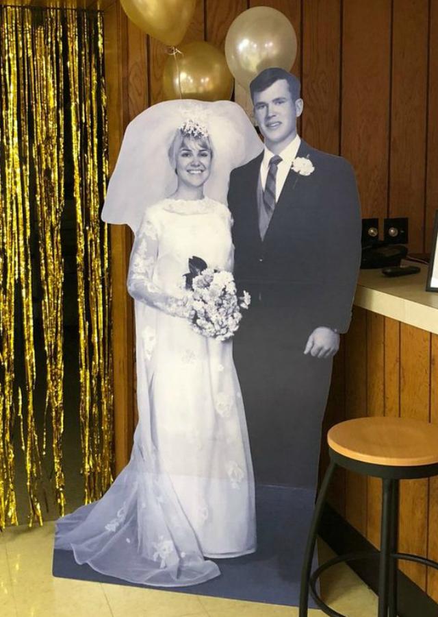 Foto de casal para bodas de ouro