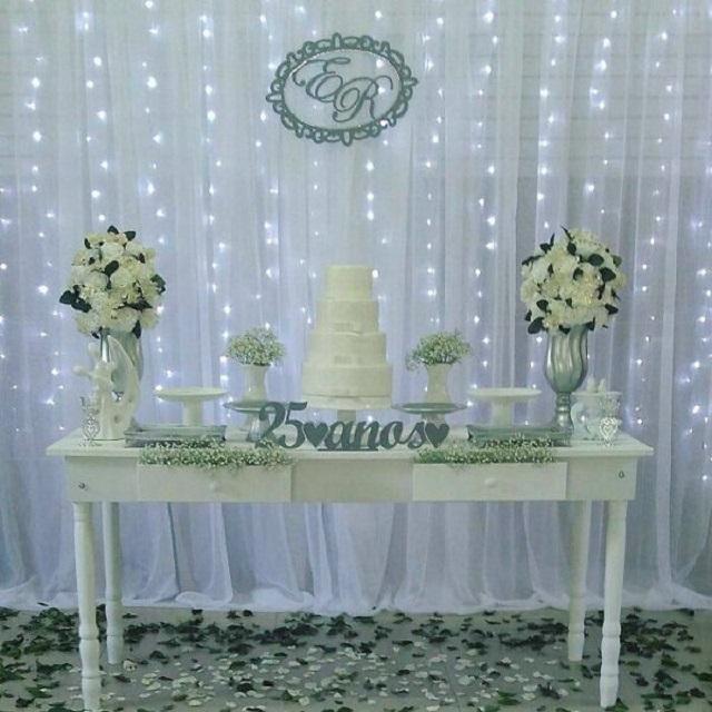 Mesas de doce bodas de prata