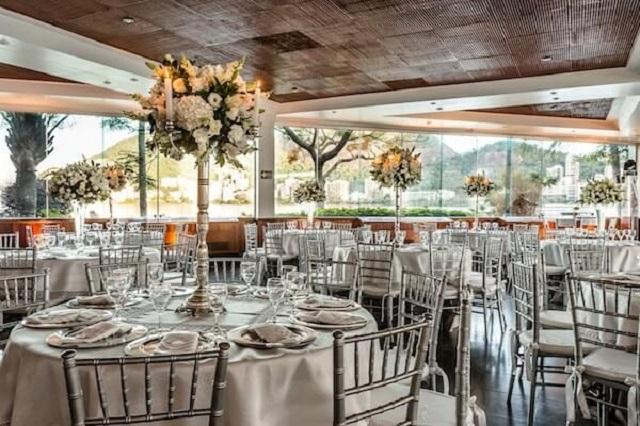 Salão de festas para bodas de prata