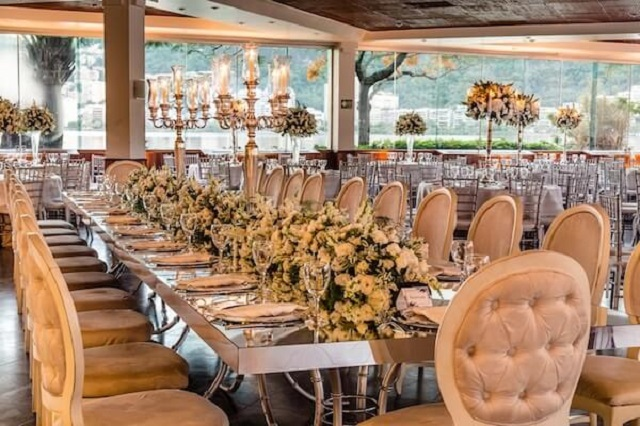 Decoração para bodas de prata
