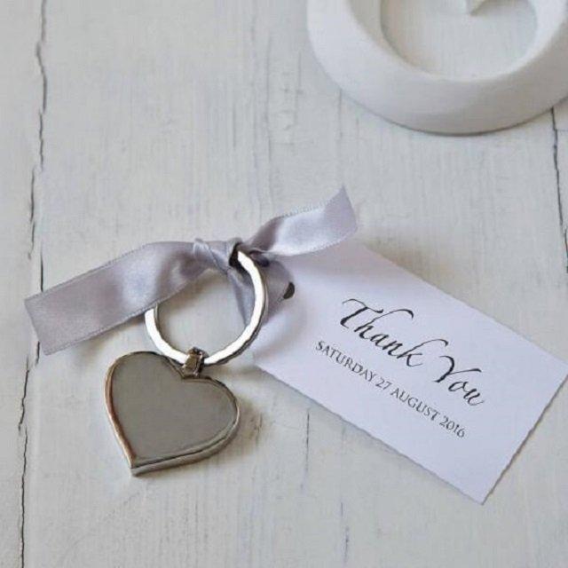 Chaveiro para bodas de prata