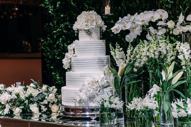 Bolo para bodas de prata