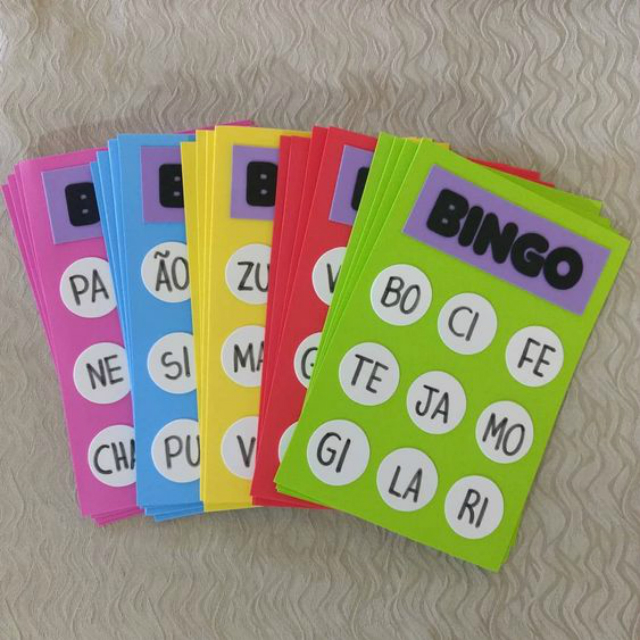 Bingo das sílabas