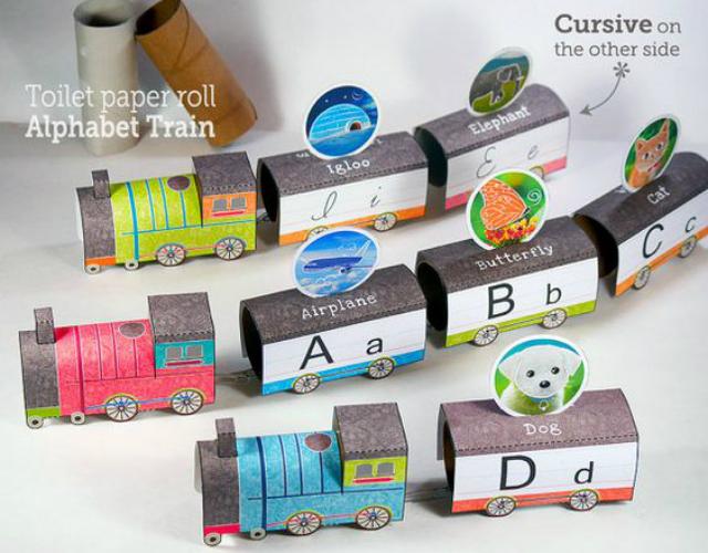 Trenzinho com letras