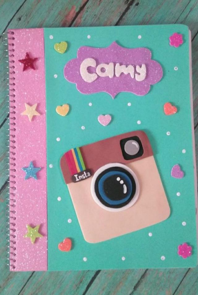 Caderno fofo decorado com EVA