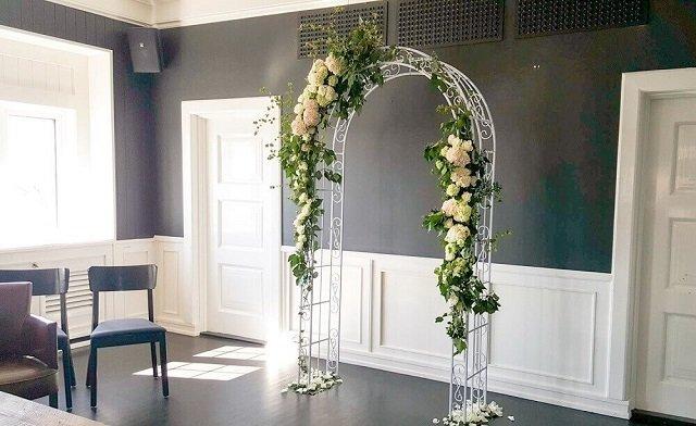 Altar de casamento de em casa