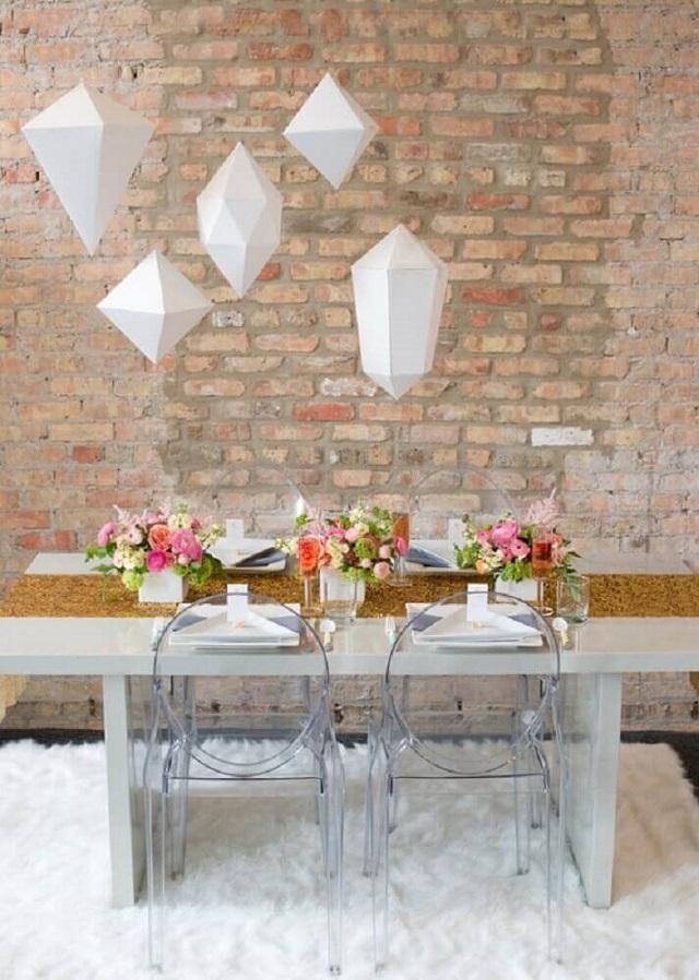 Mesa de festa de casamento