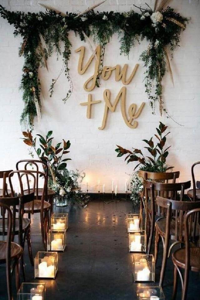 Casamento decorado com velas